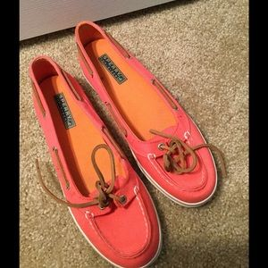 Sperry Top-Sider coral shoes (size 8.5)