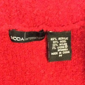 Moda International Sweaters - Victoria's Secret red off the shoulder sweater