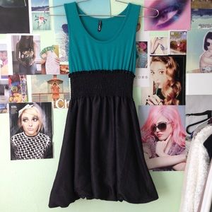 Dresses & Skirts - Turquoise and Black Dress