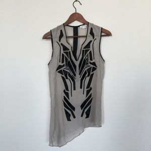 Helmut Lang Tops - Helmut Lang mixed media tunic
