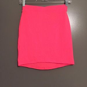 H&M body con neon pink skirt