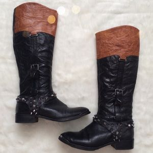 Sam Edelman Shoes - Sam Edelman Leather Park Equestrian Riding Boots