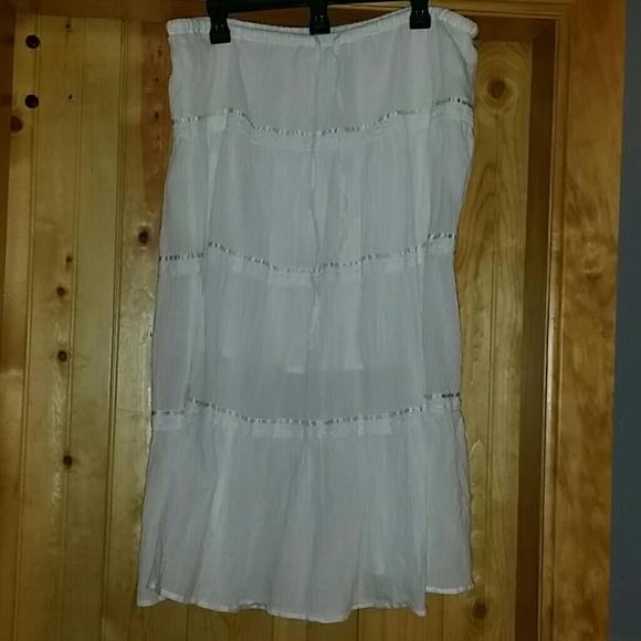 78 dresses skirts white maxi skirt