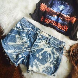 Vintage Jean / Denim High Waist Shorts