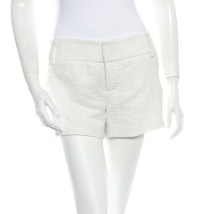 Alice and Olivia white and silver shorts