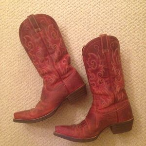 red ariat cowboy boots on Poshmark