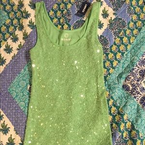Old Navy sequin tank. NWT