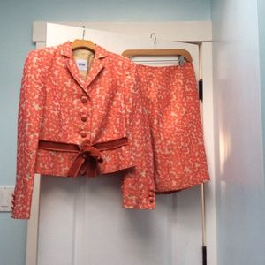 Moschino Cheap and Chic floral skirt suit