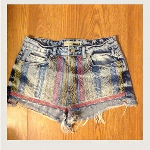 Topshop Moto shorts with print size 6 EUR 38