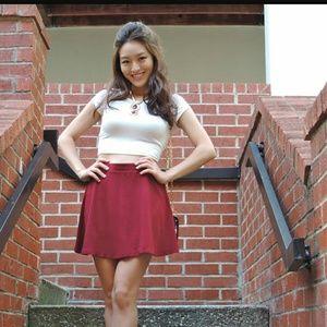 Dresses & Skirts - Maroon skater skirt