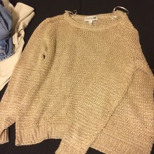 Oversized Gold Sweater Forever 21