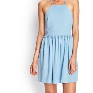 fde6939ade1ae Dresses - ❌SOLD ON DEPOP❌ Self tie baby blue skater dress