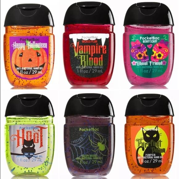 bath body works pocketbac halloween scent 6pc