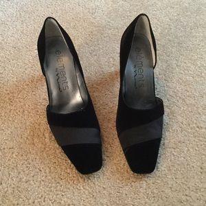 element Shoes - Elements By Nina Black Velvet Shoes