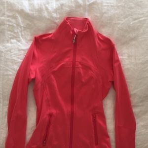 Pink lululemon define zip up jacket