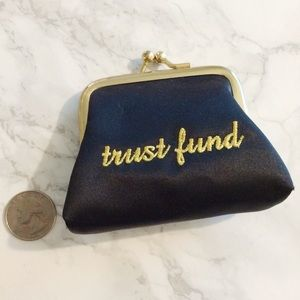 Femme Sud Accessories - Femme Sud 'Trust Fund' Coin Purse
