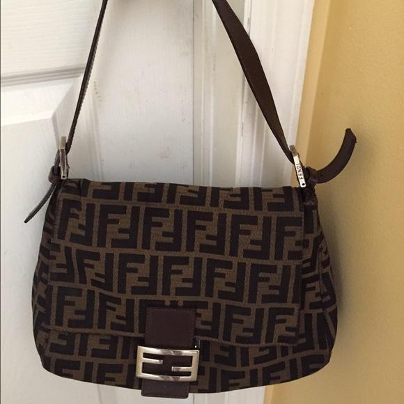 nice cheap biggest discount purchase cheap FENDI Bags | Authentic Zucca Print Shoulder Bag | Poshmark