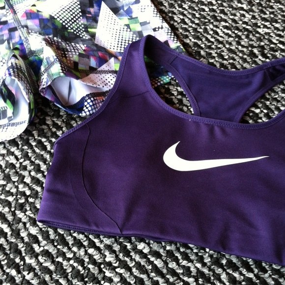 97c301e5 Purple Nike Dri Fit High Support Sports Bra NWT