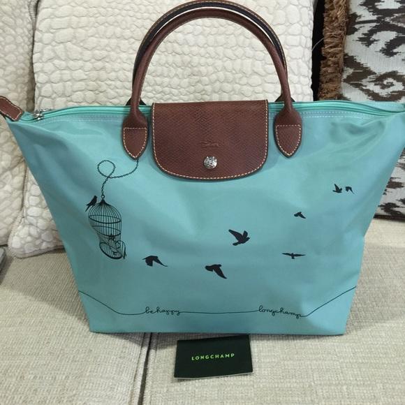 Longchamp Handbags - New Longchamp Le pliage cage aux bd67712c9aff4