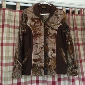 Camo fieldline fleece jacket