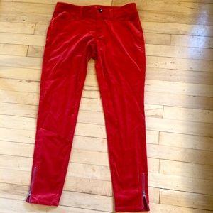 27 Red velvet Banana Republic pants. NEVER WORN