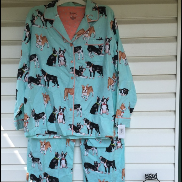 c0ad27ef3c Nick   Nora Boston Terrier Coatset Pajamas ON HOLD
