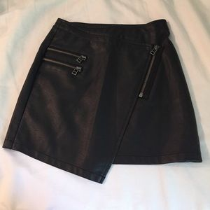 Nastygal faux leather skirt asymmetrical