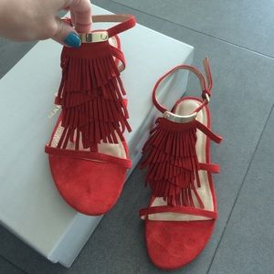 WITH BOX: Marc Fisher fringe sandals
