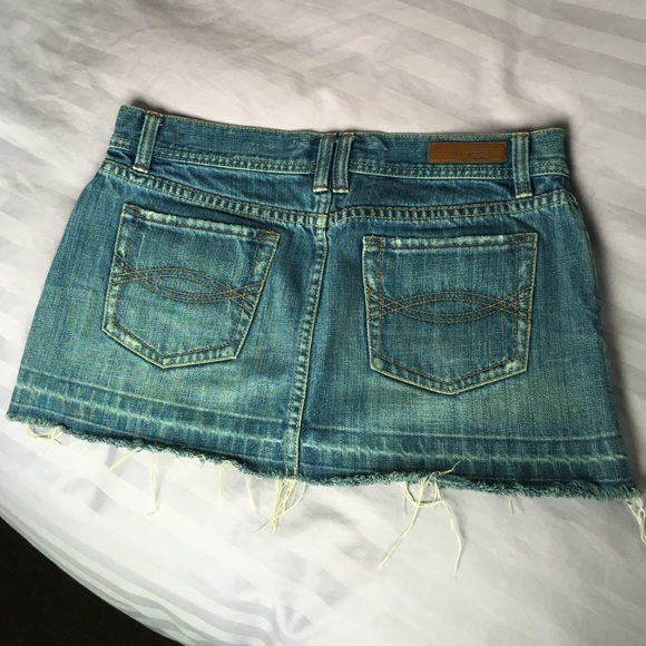 abercrombie fitch abercrombie and fitch jean skirt