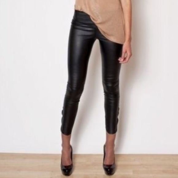 38% off H&M Pants - 🍩 SOLD - H&M | Black Faux Leather Pants ...
