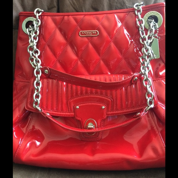 3aa788f9ed7d Coach Handbags - Red patent leather coach purse (authentic)