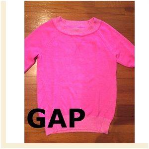 GAP neon pink sweater
