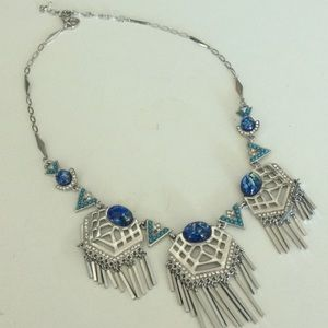 Unknown Jewelry - Tribal-ish silver/blue necklace