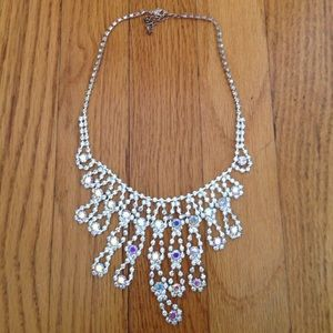 Jewelry - Costume Crystal Drop Necklace. CZ. Fun.