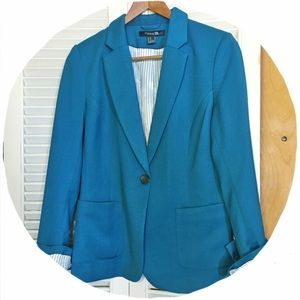 Forever 21 Jackets & Blazers - ✂️REDUCED!✂️ Teal Lined Blazer