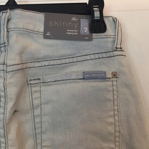 "NWT 7 For All Mankind ""the skinny"" in lustre"