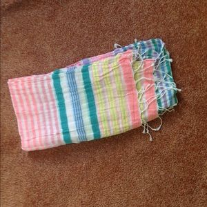 Pastel Candy Colored Striped Scarf
