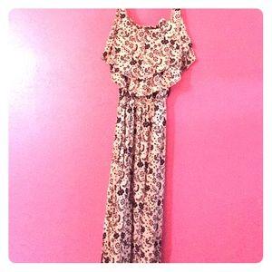 Long flowered sun dress.