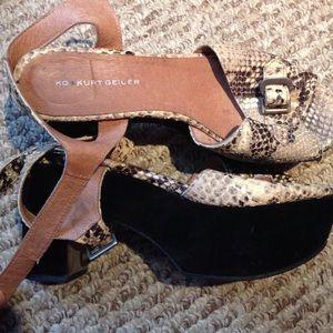 Kurt Geiger chunky platform heels