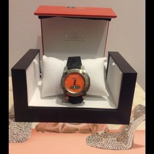 Tissot Jewelry - NWT Tissot Orange Face Watch