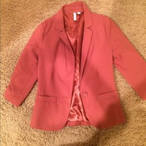 Blazer with 3/4 sleeves