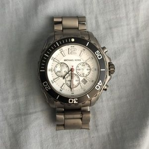 Titanium Michael Kors Watch w/box and links