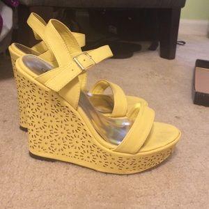 Yellow Diba Rosey Wedge Sandal