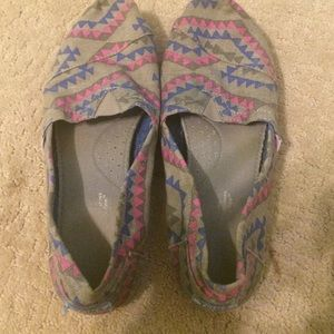 Pink and Blue Aztec Toms.