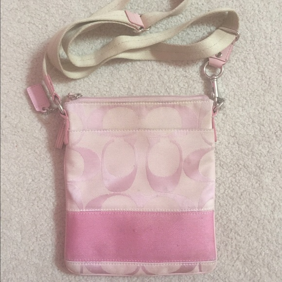 75% off Coach Handbags - A pink coach sling purse. from Courtney's ...