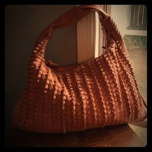 """organic PETA approved """"leather"""" woven hobo"""