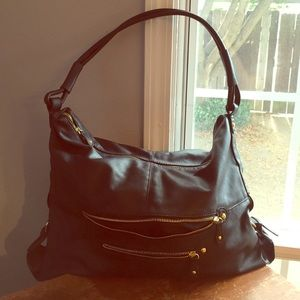 black hobo with gold hardware