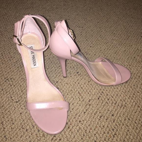 deac2dc17f4 Steve Madden Light Pink Nude Strappy Heels. M 55d279b7c4469125490004fb
