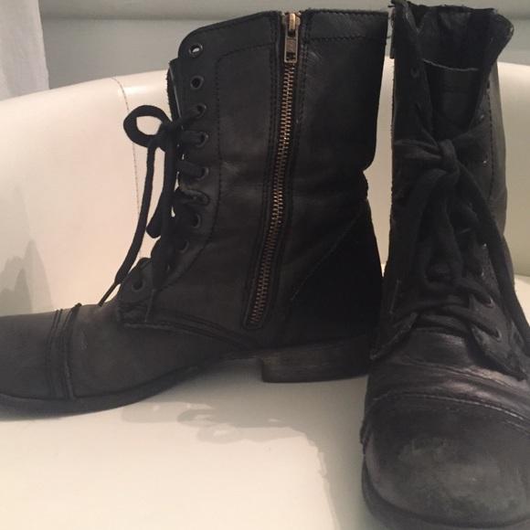80 steve madden shoes steve madden black troopa