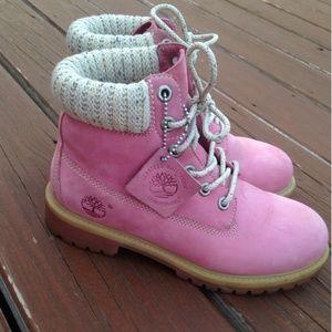 Damene Rosa Timberland Støvler Størrelse 7 QcbmAdRS